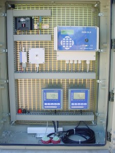 installation armoire débit et pH conductivité